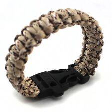 Cord Desert Camouflage Whistle Survival Bracelet