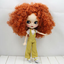 """12"""" Blythe Nude Doll from Factory long curly dark hair joints body free shipping"""