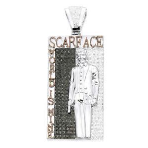 Awesome Tony Montana Scarface Character Black, White & Orange Stone Men Pendant