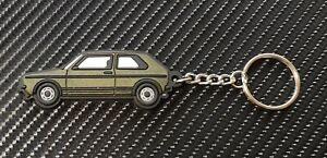 VW Golf Mk1 Gti Key Ring Gold