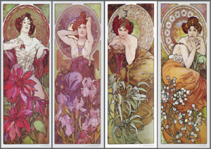 Alphonse Mucha | Precious Stones | Vintage Poster | A1, A2, A3