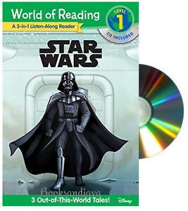 World of Reading Level 1 Listen Along Reader Star Wars 3 Adventures Paperback/CD