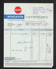 "PARIS (VIII°) USINE de SAVON ""DOP / MONSAVON"" en 1959"