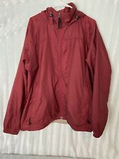 LL Bean Mens XL Rain Jacket Nylon Full Zip Hooded Coat Rain Gear