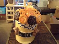 Ceramic teddy bear with cookies cookie jar by Jay imports