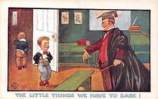 POSTCARD   COMIC   Teacher  and  Pupil  The  little  things....