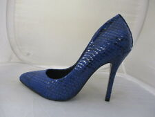 STEVE MADDEN BLUE SNAKE  LADIES HEELS UK 5.5 US 8 EURO 38  REF 1987*