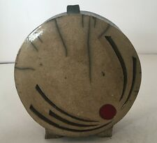 Round Modern Sculpture Pottery Abstract Sundial Sunburnt glaze Ceramic Fine Art