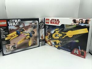 LEGO Star Wars Lot 75258 Anakin's Podracer 75214 Anakin's Jedi Starfighter Set