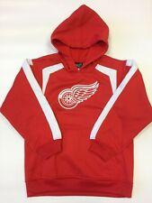 New Boys NHL Detroit Redwings Hoody Sweatshirt Small Medium Hockey Reebok Kids