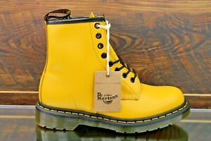 Dr Martens 1460 Yellow Smooth Leather 8 Eye Combat Boots Women's Size: 8