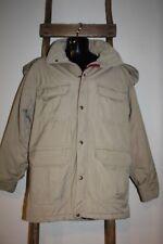 MEN'S~Vintage~WOOLRICH~Beige~COAT~Jacket~QUILTED LINING~Removable HOOD~Large?