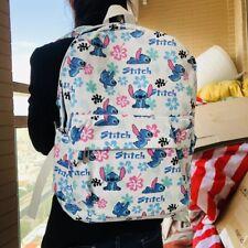 "Lilo&stitch white 15"" backpack shoulder bag cartoon school bags hot"