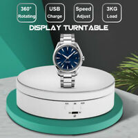 360° Rotating Display Stand Jewelry Watch Turntable Motorized Electric Holder