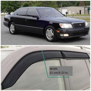 LE21395 Window Visors Sun Guard Vent Wide Deflectors For Lexus LS Sd 1995-2000