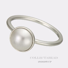 Authentic Pandora Luminious Droplet Crystal Pearl Ring Size 60 (9) 191010WCP