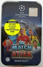 2016-17 Topps Match Attax Champions League Trading Cards Tin Box