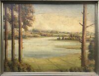Ölgemälde Frühling Westensee Schleswig-Holstein Werner Krause 41 x 53 cm