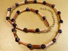 HM576...Brown & Orange Beaded Necklace - FREE UK P&P