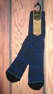 MENS STANCE RESERVE NAVY BLUE CREW HEIGHT CREW SOCKS SIZE L (9/12)