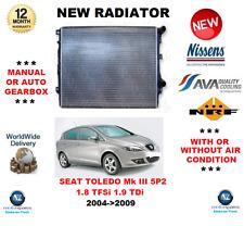 Para Seat Toledo Mk III 5P2 1.8 TFSI 1.9 Tdi 2004- > 2009 Radiador OE Calidad