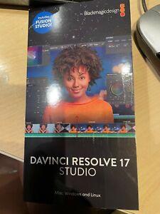 Davinci Resolve 17 Studio new and sealed licence.