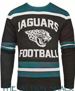 NFL Jacksonville Jaguars Football Men's Glow in the Dark! Sweater. LG.  NWT's