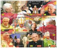 St Thomas & Prince Isl. - 2005 Pope Benedict XVI 9 Stamp Sheet MSTP13