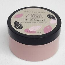 1 Bath Body Works ALMOND & VANILLA Whipped Body Butter Moisturizer Lotion Cream