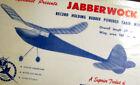 SUPER JABBERWOCK PLAN & PARTS PATTERNS for Rubber Powered OT FF Model Airplane