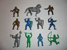 Vintage plastic toy soldier LIDO horse knight lot