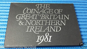 1981 Coinage of Great Britain and Northern Ireland Uncirculated Coin Set