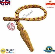 British Army Golden & Red Sword Knot/ WWI WWII Sword Knot/Royal Navy Sword Knot