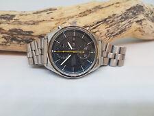 RARO GRANDE VINTAGE SEIKO Chronograph 6138-30 Quadrante Nero Daydate Automatico Uomo'S Watch