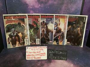 5-Ultimates Origins #1-5 Marvel Comic #1 Wolverine Variant Be dis Spiderman Hulk