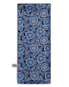 Men's Paisley Scarf Vibrant Classic Blue Pattern - The DeZon