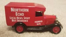 Iconic Northern Echo Newspaper Vintage Delivery Vehicle, Red, Promotional Model