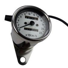Mini Tachometer Speedometer kleiner Motorradtacho weisses Ziffernblatt