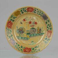 Antique Ca 1700 Chinese Porcelain Kangxi Famille Verte Cafe Au Lait Plat...