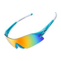 ROCKBROS Cycling Sunglasses Bike Bicycle Sports Glasses Goggles Blue White UV400
