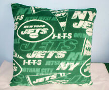 NEW YORK JETS FLEECE PILLOW GREEN WHITE NFL L@@K RETRO PRINT