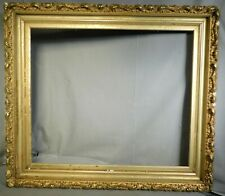 Antique Lemon Gold Gilt Hudson River Painting Picture Frame 21x25 1885 As Is Old