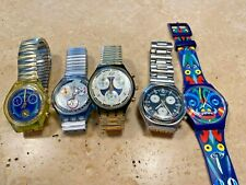 LOTTO OROLOGI SWATCH SWISS MADE VINTAGE WATCHES LOT NON FUNZIONANTI/NOT WORKING