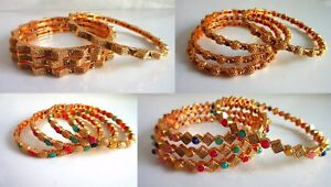 Indian Bollywood Gold Plated Traditional Women Bangles Fashion Jewelry