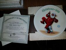 Bradford Exchange Collectors Plate in Box - 1989 Jolly Old St. Nick P13