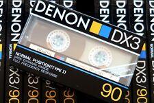 DENON DX3 90 NORMAL POSITION TYPE I BLANK AUDIO CASSETTE - JAPAN 1988