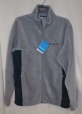 Columbia Sportswear Flattop Mountain Grey / Teal Fleece Men's Jacket - S