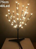 Arbol de navidad con luces led 75cm 40 leds cerezo decorativo árbol sobremesa