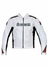 Suzuki Mens Cowhide Motorbike Leather Jacket Motorcycle Sports Leather Jacket
