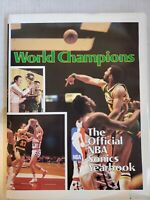 1977-79 Seattle Supersonics yearbook rare hard cover copyright 1979 Official NBA